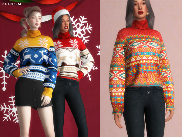 Bohemia Sweater by ChloeMMM at TSR image 3532 Sims 4 Updates