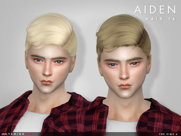 Sims 4 Aiden Hair 76 by TsminhSims at TSR