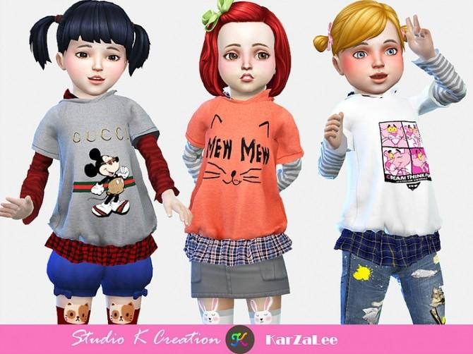 T02 hoodie sweatshirt for toddler at Studio K Creation image 354 670x502 Sims 4 Updates