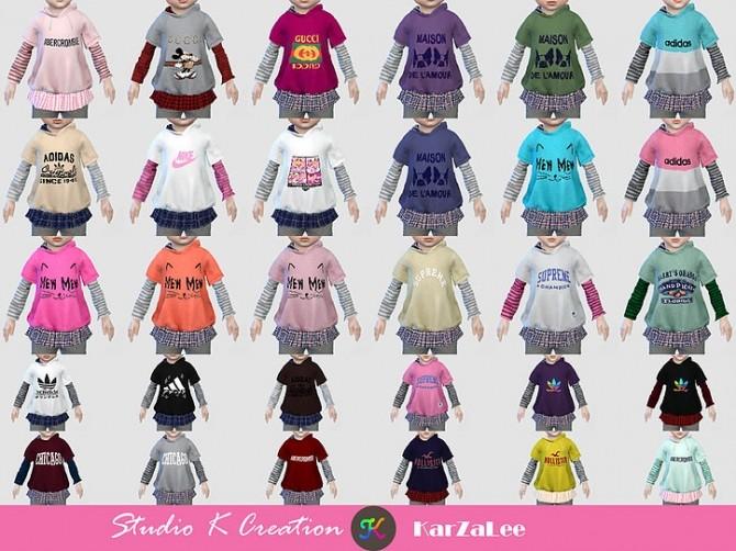 T02 hoodie sweatshirt for toddler at Studio K Creation image 355 670x502 Sims 4 Updates