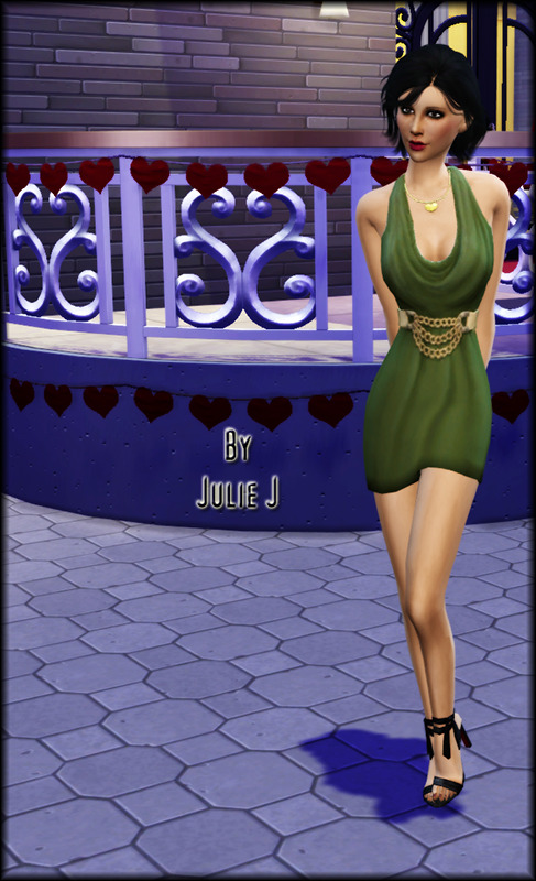 Sims 4 EP06 Dress Belted Shortened at Julietoon – Julie J