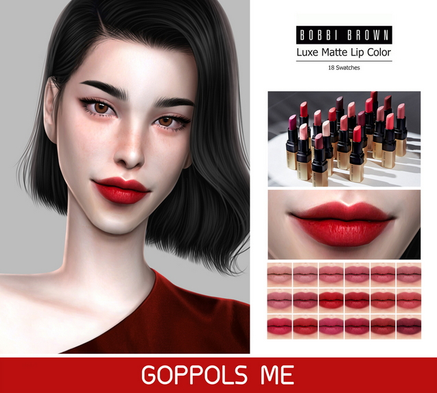 Sims 4 Luxe Matte Lip Color at GOPPOLS Me
