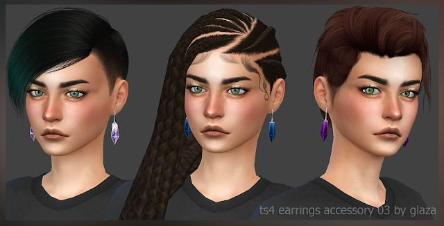 Earrings 03 (P) at All by Glaza image 361 Sims 4 Updates