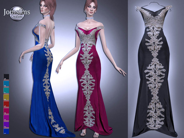 Radelane dress by jomsims at TSR image 3614 Sims 4 Updates