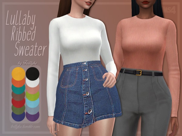 Lullaby Ribbed Sweater by Trillyke at TSR image 3615 Sims 4 Updates