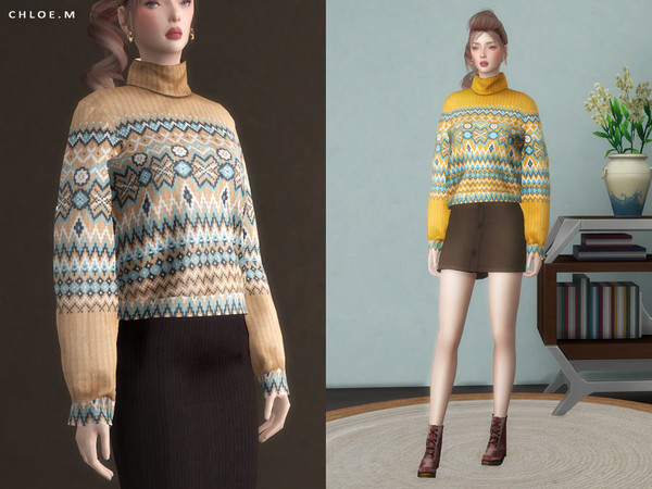 Bohemia Sweater by ChloeMMM at TSR image 3629 Sims 4 Updates