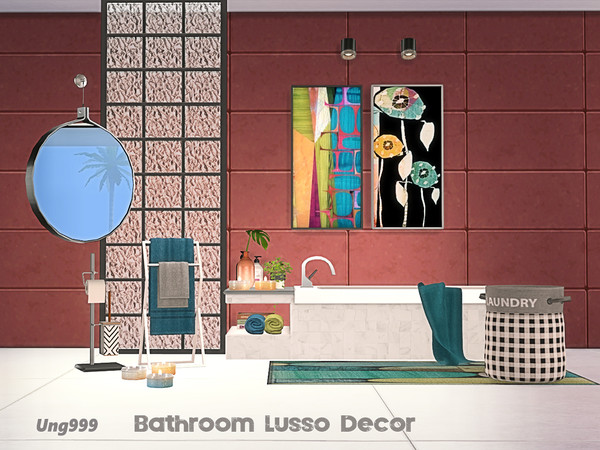 Sims 4 Bathroom Lusso Decor by ung999 at TSR