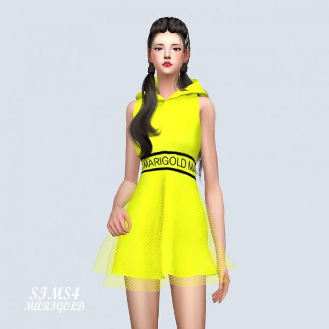 MG Hood Mini Dress at Marigold image 367 670x670 Sims 4 Updates