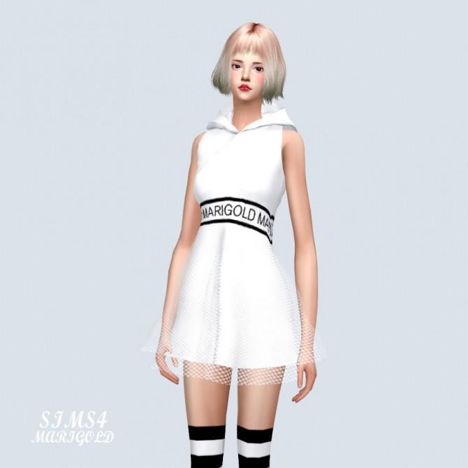 MG Hood Mini Dress at Marigold image 368 670x670 Sims 4 Updates