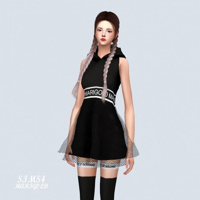 MG Hood Mini Dress at Marigold image 369 670x670 Sims 4 Updates