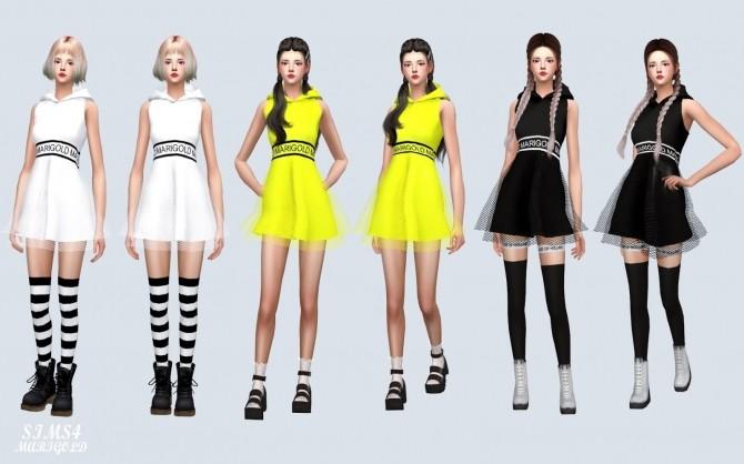 MG Hood Mini Dress at Marigold image 371 670x418 Sims 4 Updates