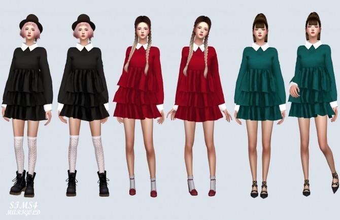 Sims 4 Mari Tiered Dress at Marigold