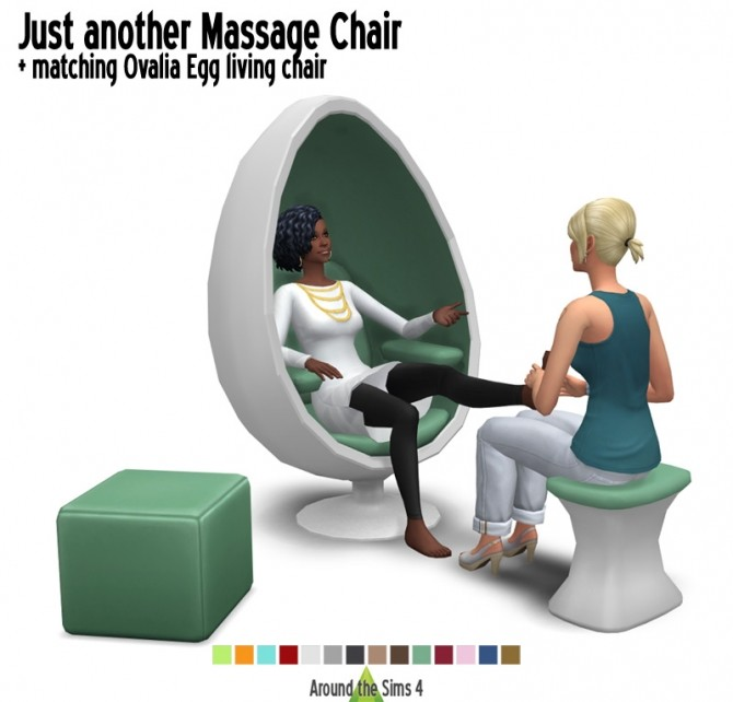 Sims 4 Ovalia Egg Massage & Living Chairs by Sandy at Around the Sims 4