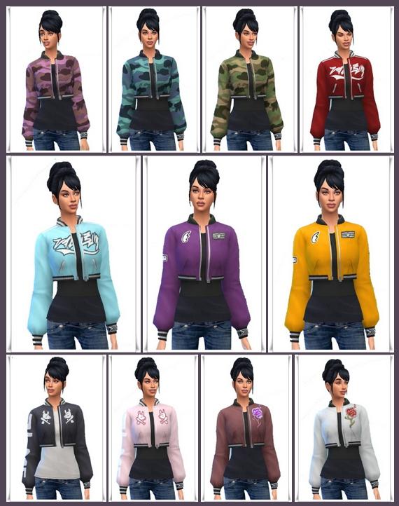 Jacket Cropped Long Shirt at Birksches Sims Blog image 378 Sims 4 Updates