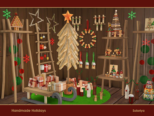 Handmade Holiday objects by soloriya at TSR image 3826 Sims 4 Updates