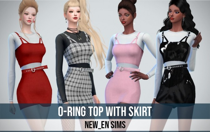 Sims 4 O ring Top With Skirt at NEWEN
