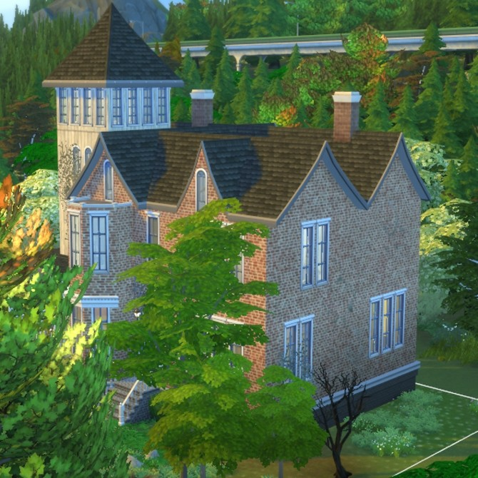 Sims 4 Haunted Manor House by valbreizh at Mod The Sims