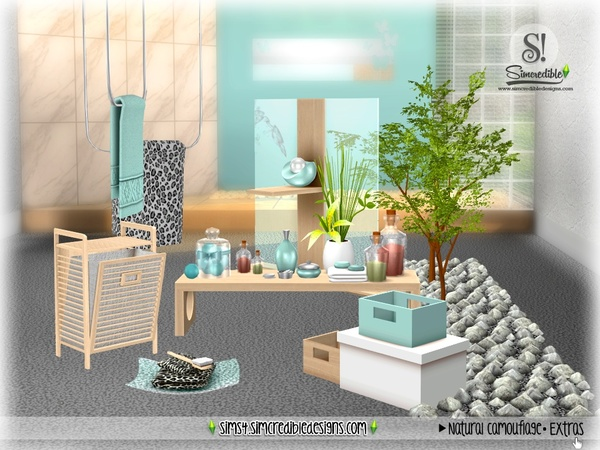 Natural Camouflage Decor by SIMcredible at TSR image 3920 Sims 4 Updates
