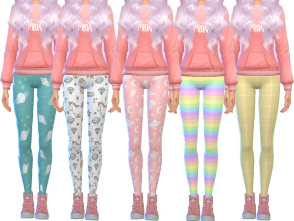 Tumblr Themed Leggings by Wicked Kittie at TSR image 3923 Sims 4 Updates