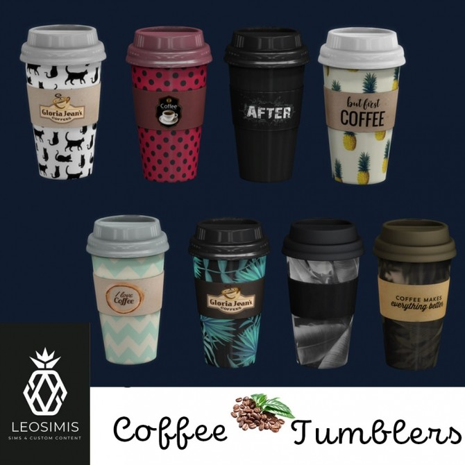 Sims 4 Coffee Tumblers at Leo Sims