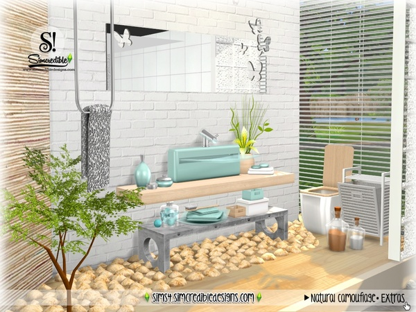 Natural Camouflage Decor by SIMcredible at TSR image 4021 Sims 4 Updates