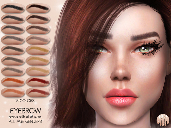 Realistic Eyebrow BW01 by busra tr at TSR image 4027 Sims 4 Updates