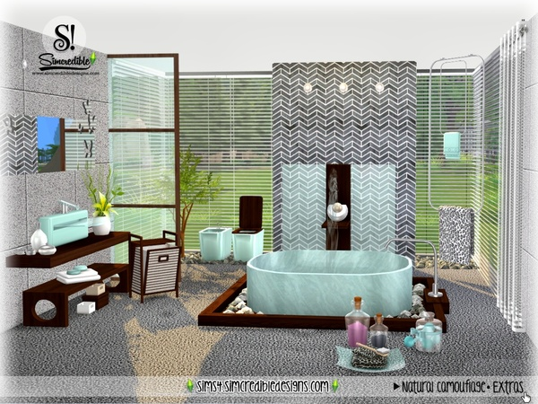 Natural Camouflage Decor by SIMcredible at TSR image 4123 Sims 4 Updates