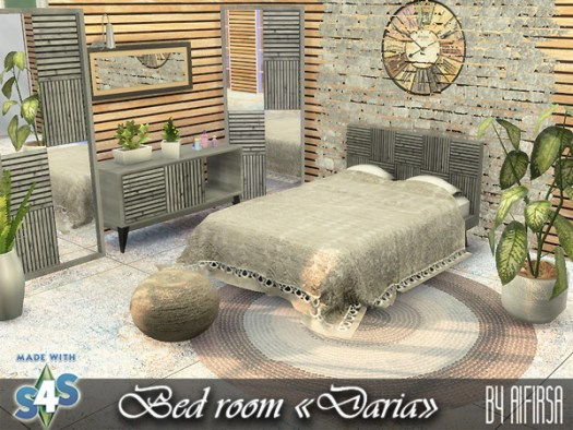 Sims 4 Daria Bedroom at Aifirsa