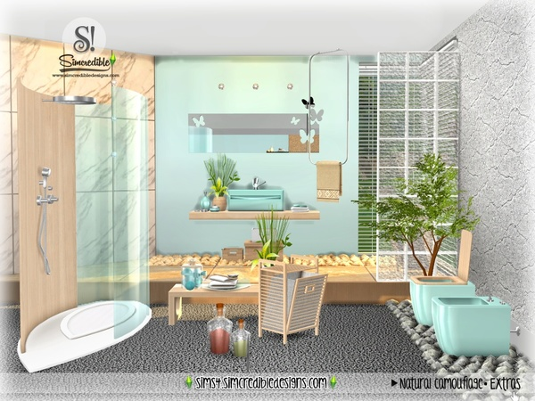 Natural Camouflage Decor by SIMcredible at TSR image 4223 Sims 4 Updates