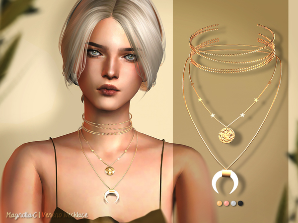 Veneno Necklace by Magnolia C at TSR image 4225 Sims 4 Updates