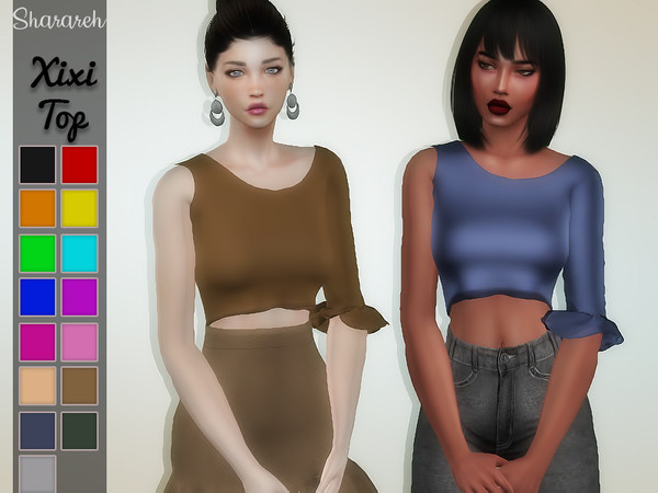 Xixi top by Sharareh at TSR image 4226 Sims 4 Updates