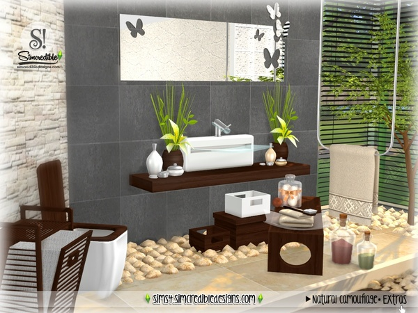 Natural Camouflage Decor by SIMcredible at TSR image 4324 Sims 4 Updates