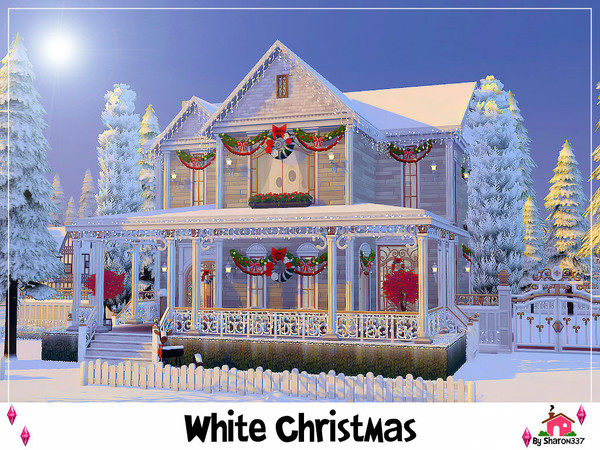 White Christmas house by sharon337 at TSR image 4327 Sims 4 Updates