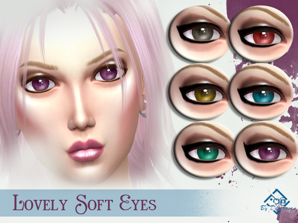 Sims 4 Lovely Soft Eyes by Devirose at TSR