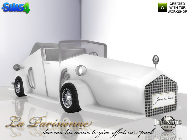 Decorative car La Parisienne by jomsims at TSR image 4332 Sims 4 Updates