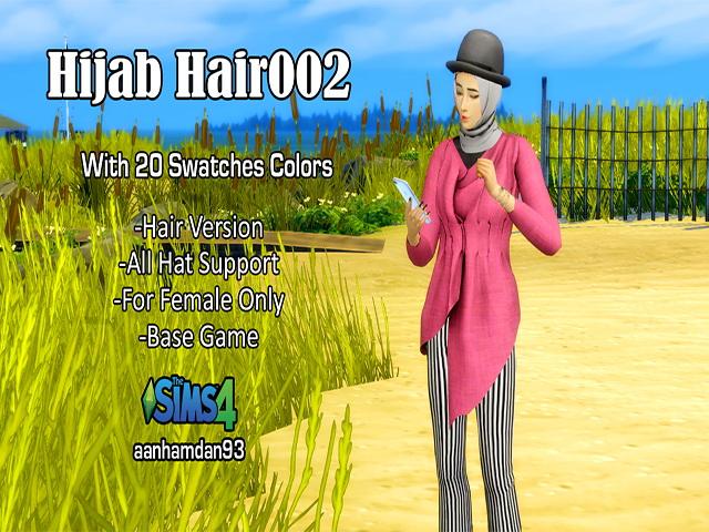 Hijab Model 054 Hair 002 & More Collections at Aan Hamdan Simmer93 image 435 Sims 4 Updates