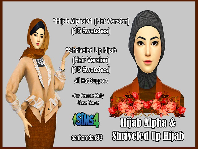 Hijab Model 054 Hair 002 & More Collections at Aan Hamdan Simmer93 image 436 Sims 4 Updates