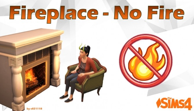 Sims 4 Fireplace   No Fire, less fire or more fire by c821118 at Mod The Sims
