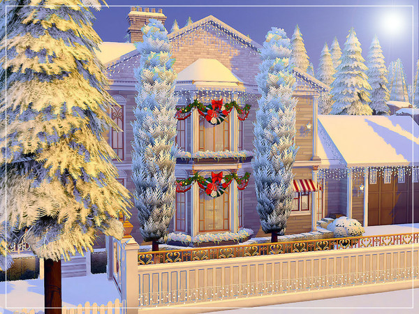 White Christmas house by sharon337 at TSR image 4425 Sims 4 Updates