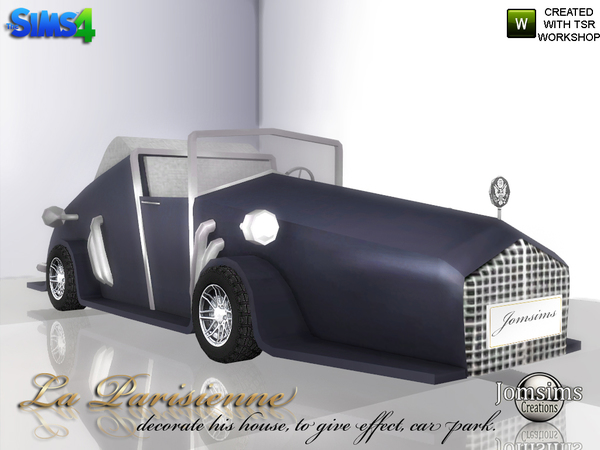 Decorative car La Parisienne by jomsims at TSR image 4430 Sims 4 Updates