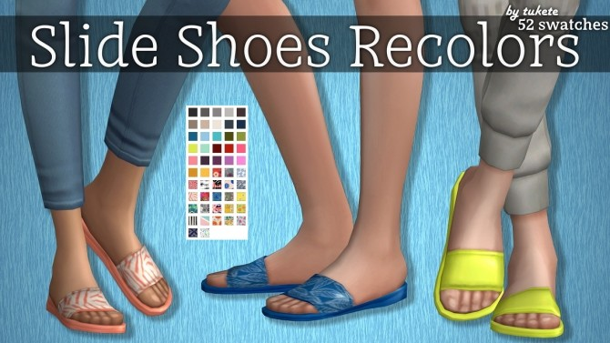 Sims 4 EP06 Slide Shoes Recolors at Tukete