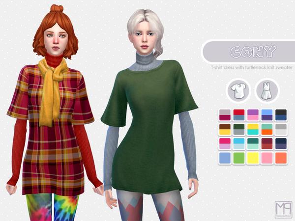 Sims 4 ManueaPinny Cony dress by nueajaa at TSR