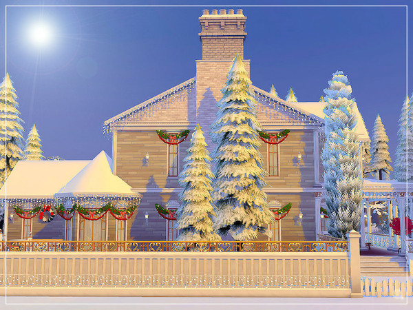 White Christmas house by sharon337 at TSR image 4521 Sims 4 Updates