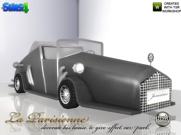 Sims 4 Decorative car La Parisienne by jomsims at TSR