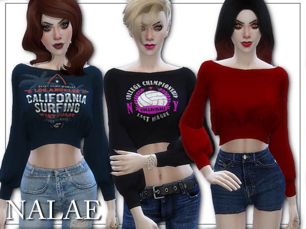 Crop Pullover by Nalae at TSR image 468 Sims 4 Updates