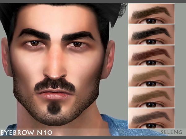 Sims 4 Eyebrow N10 by Seleng at TSR