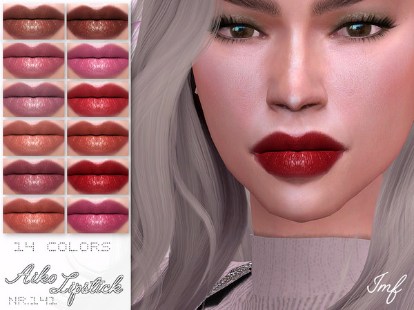 Sims 4 IMF Aiko Lipstick N.141 by IzzieMcFire at TSR