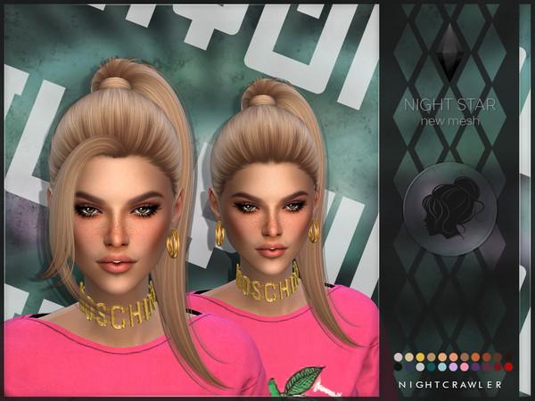 Sims 4 Night Star 2IN1 hair by Nightcrawler Sims at TSR