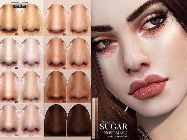 Sugar Nose Mask N03 by Pralinesims at TSR image 473 Sims 4 Updates