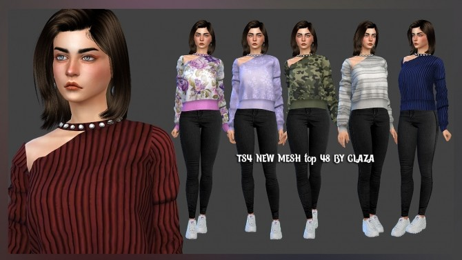 Sims 4 New Mesh top 48 at All by Glaza